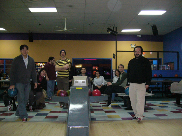 Scott and Julian before rolling strikes...NOT!