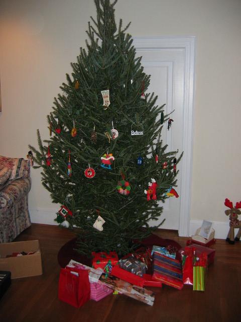 The Christmas tree (still under construction).