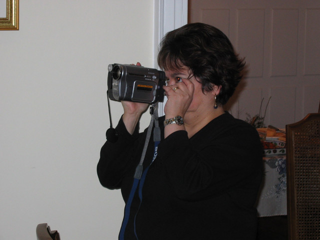 Paty, the camerawoman in action.