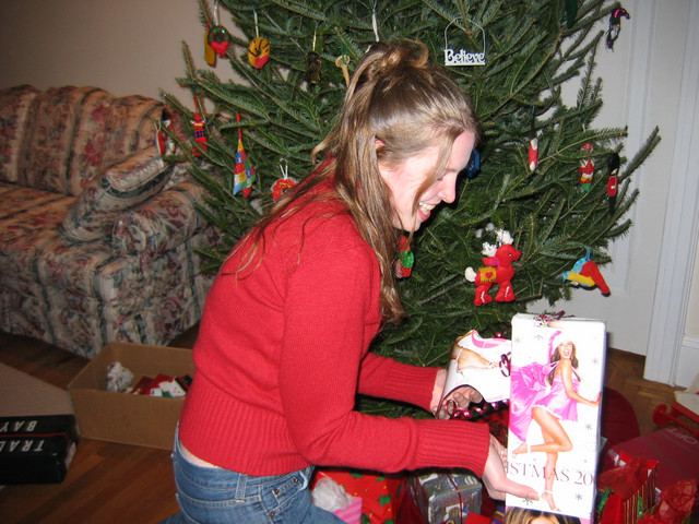 Laura gets the first turn, and picks the box with the most provocative wrapping!...