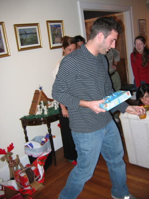 Chris has here the box that he took...