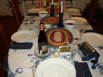 Table all ready for food.