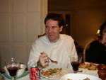 Kurt enjoys dinner.